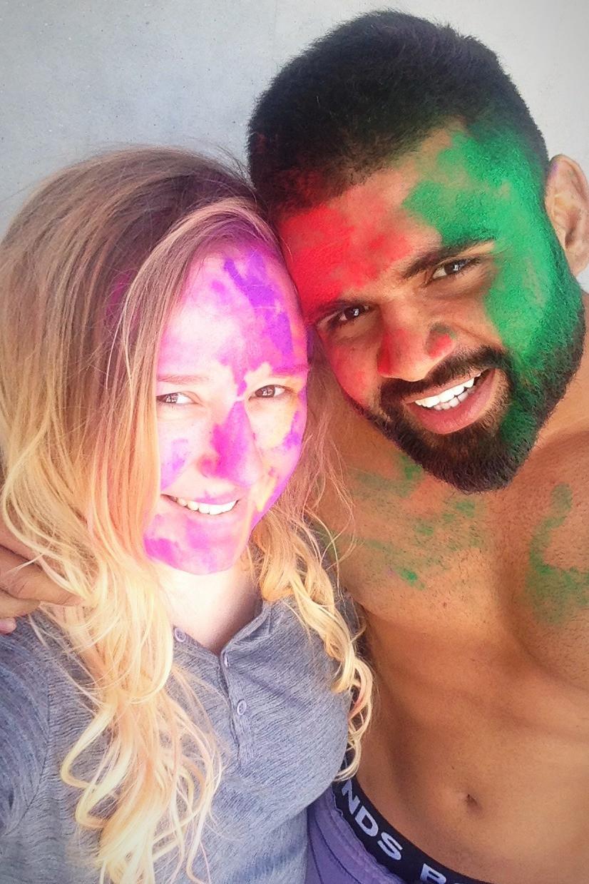 Celebrating Holi With My Husband