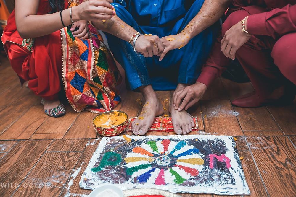 The Haldi/Vatna Ceremony