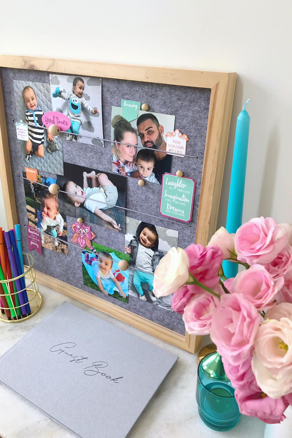 Photo Board And Guest Book
