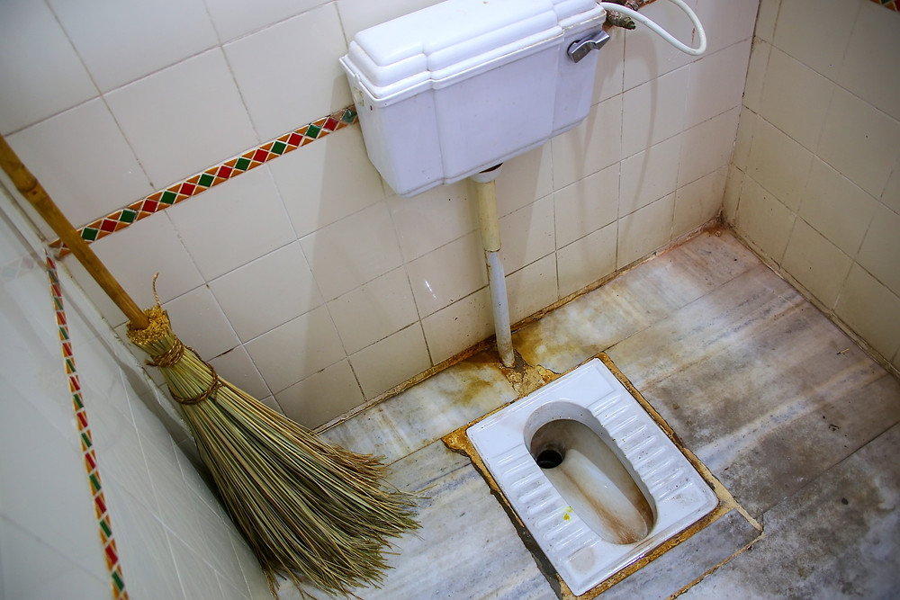 A Traditional Indian Squat Toilet