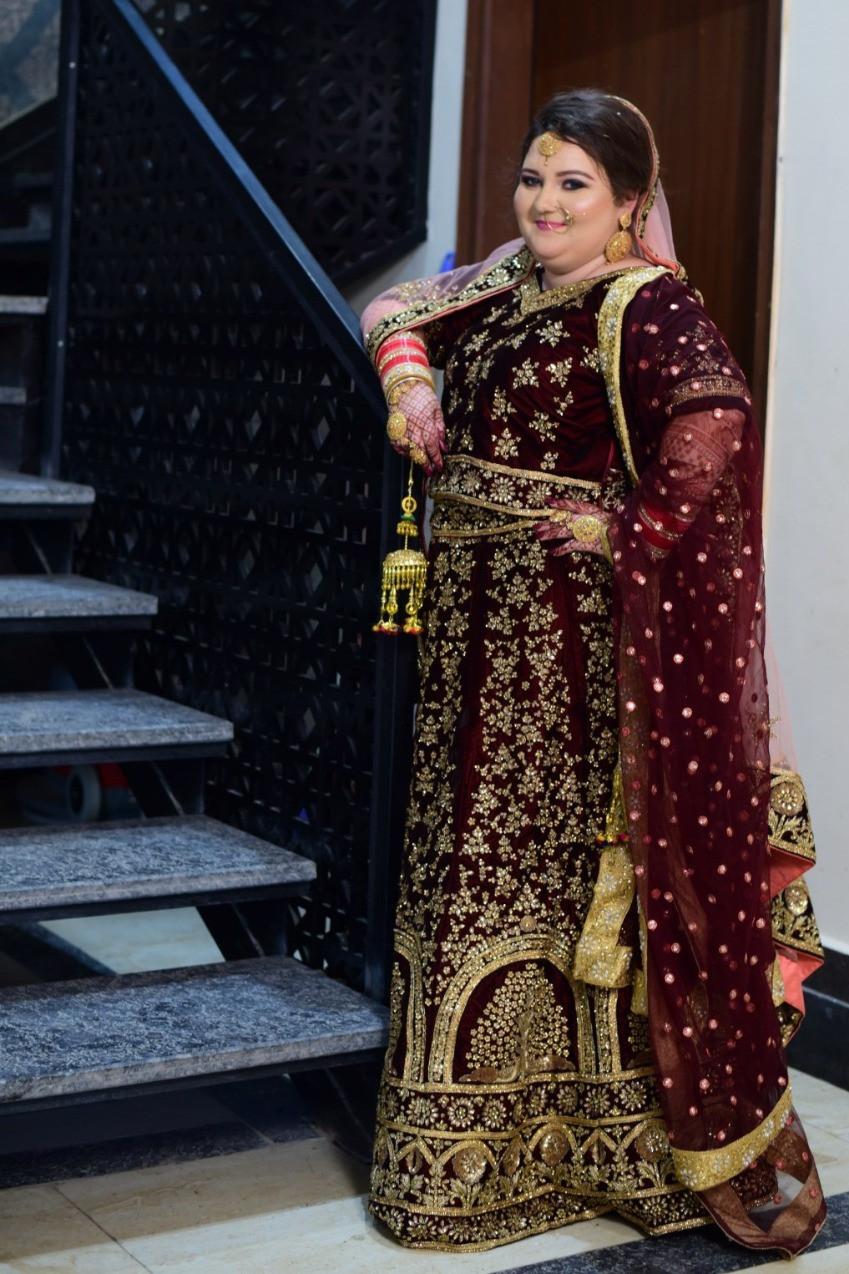 The Beautiful Punjabi Bride In Her Lehenga Choli