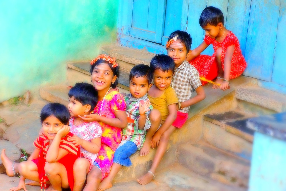Indian Children Playing