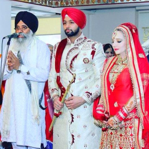 The Couple During Their Anand Karaj