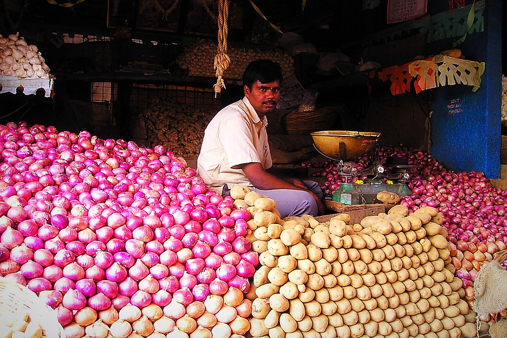 Many Vendors Will Keep All Their Stock On Display. Potatoes Or Onions Anyone?