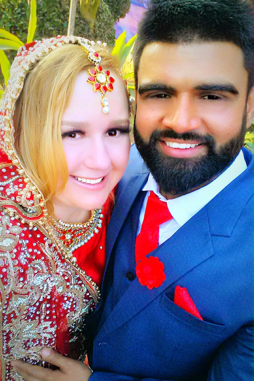 The White Punjabi Bride and Husband