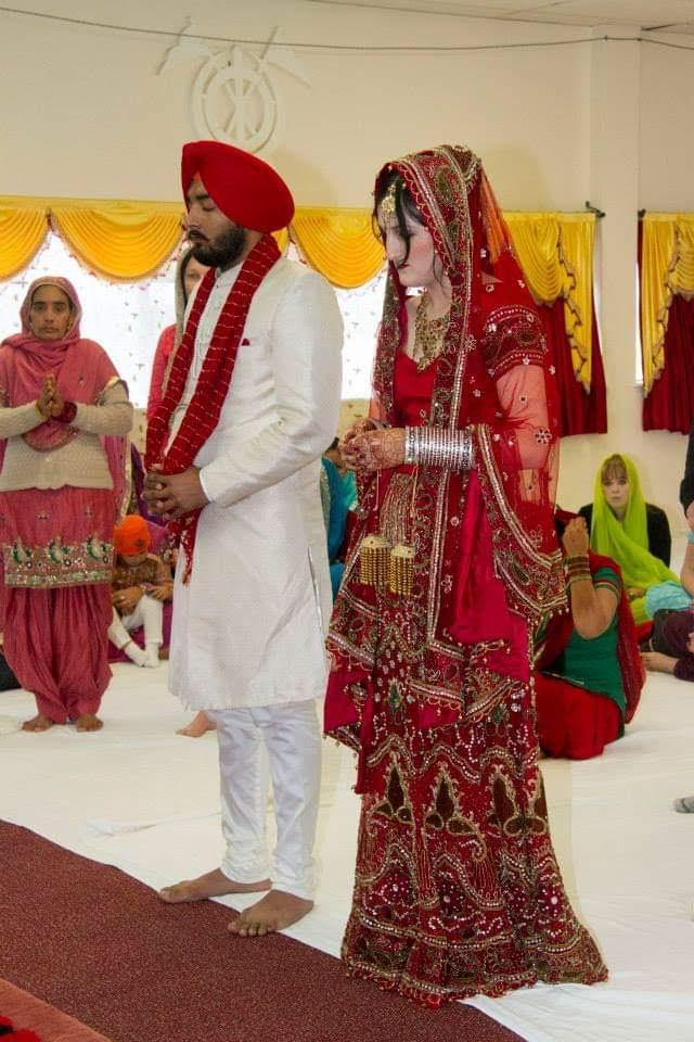 The Couple During Anand Karaj