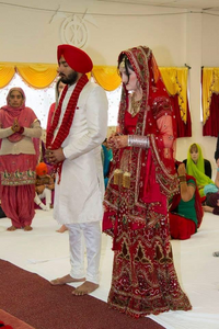The Couple During Anand Karaj