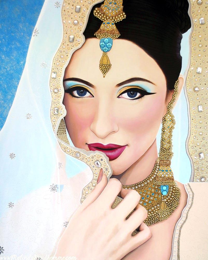Malinda Prud'homme Indian Bride Portrait