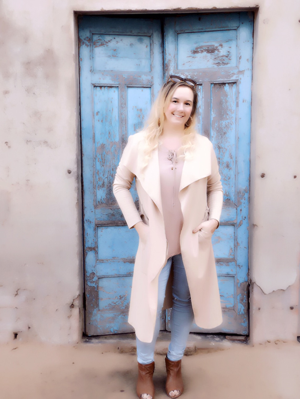 Wearing Western Attire; Duster Coat With Jeans