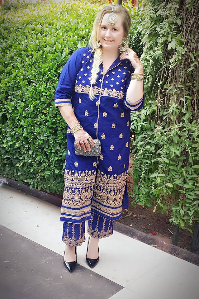 Wearing Traditional Attire; Palazzo Pant Suit