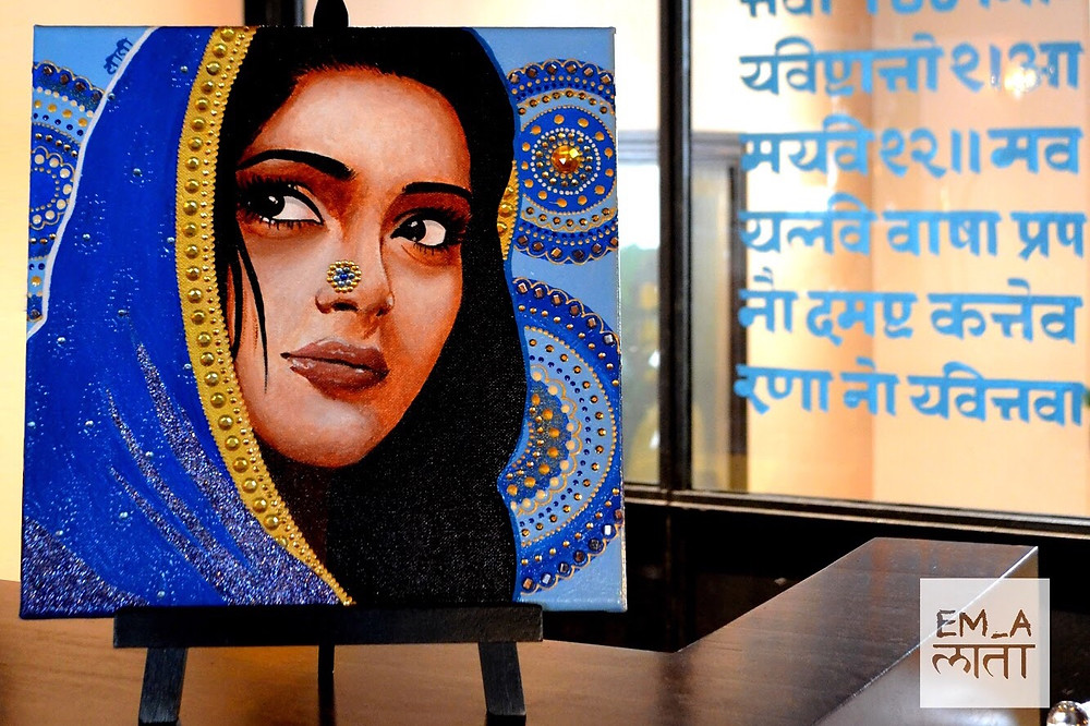 Elodie Mondelice Artwork 'Amiya' On Display At Indian Restaurant
