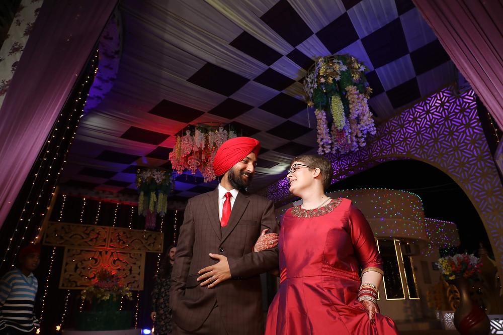 Krista & Amandeep At Their Wedding Receptions