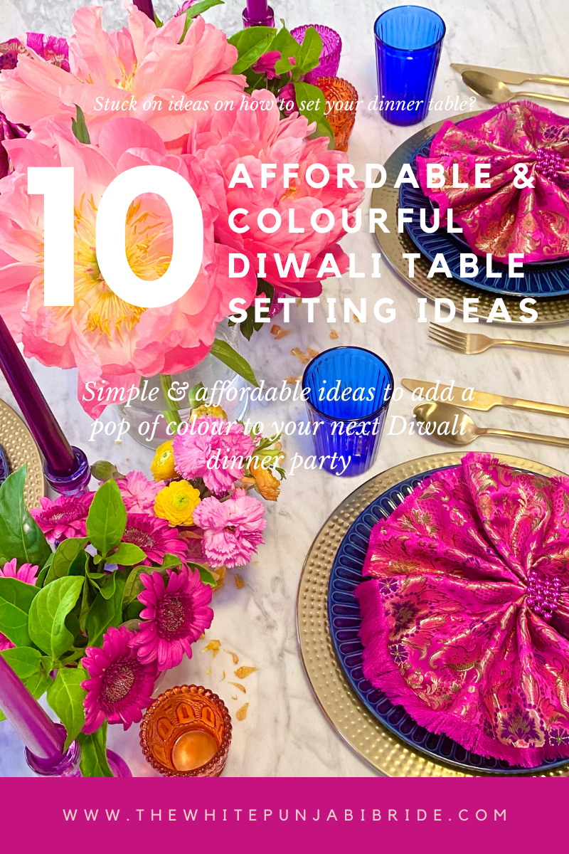 10 Affordable & Colourful Diwali Table Setting Ideas