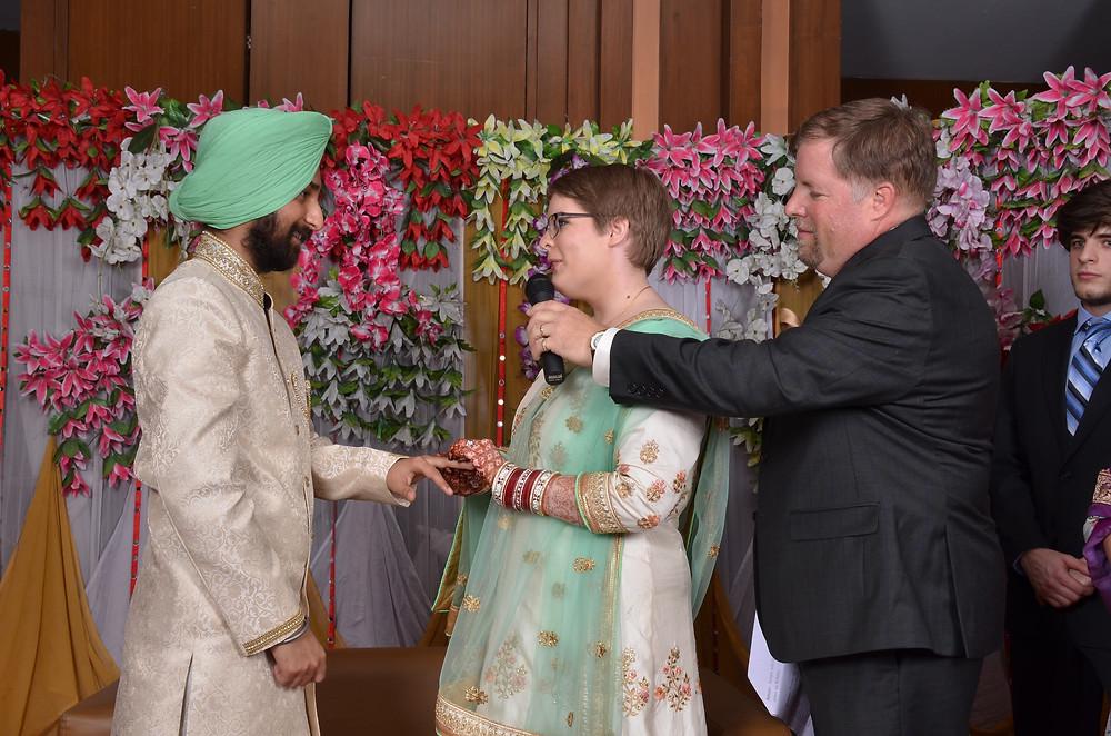 Krista & Amandeep Exchanging Vows