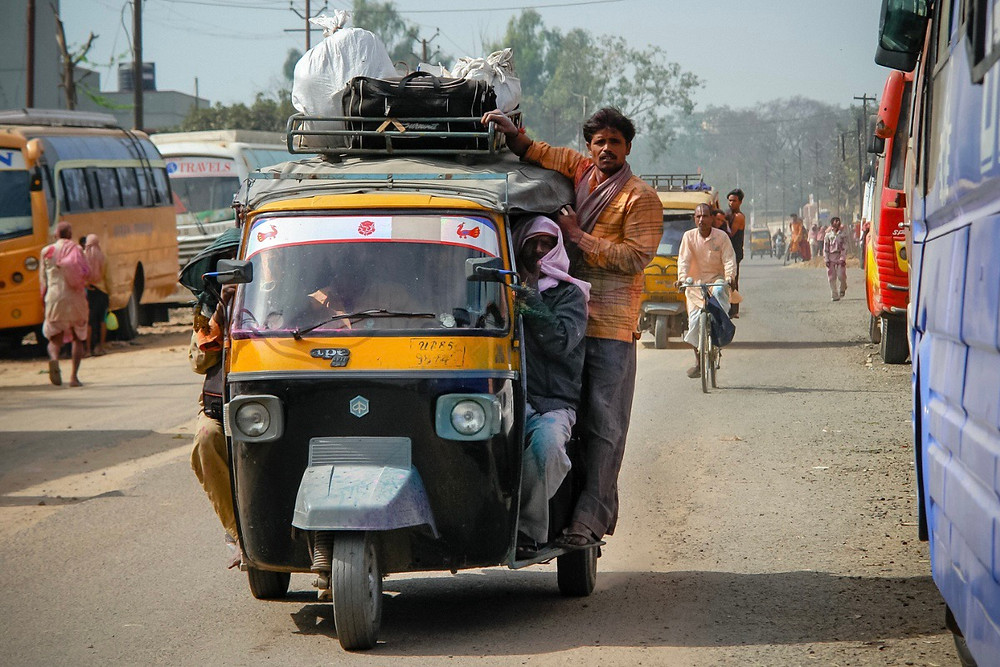 Crowded Rickshaw