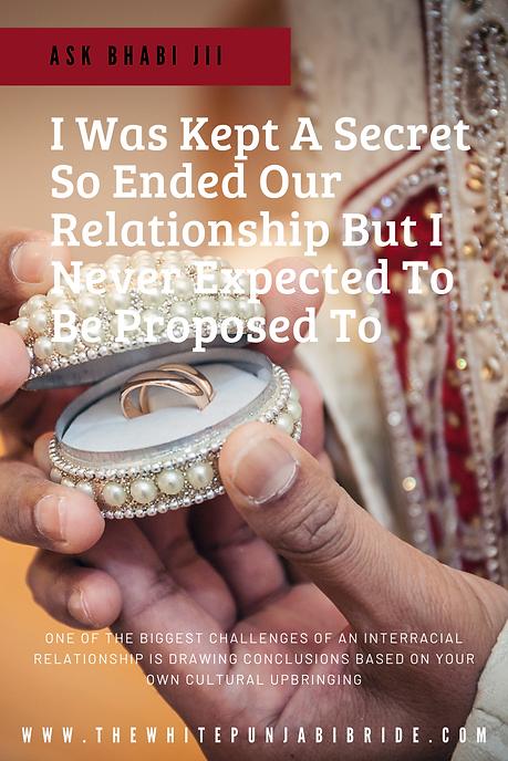 I was kept a secret so I ended our relat