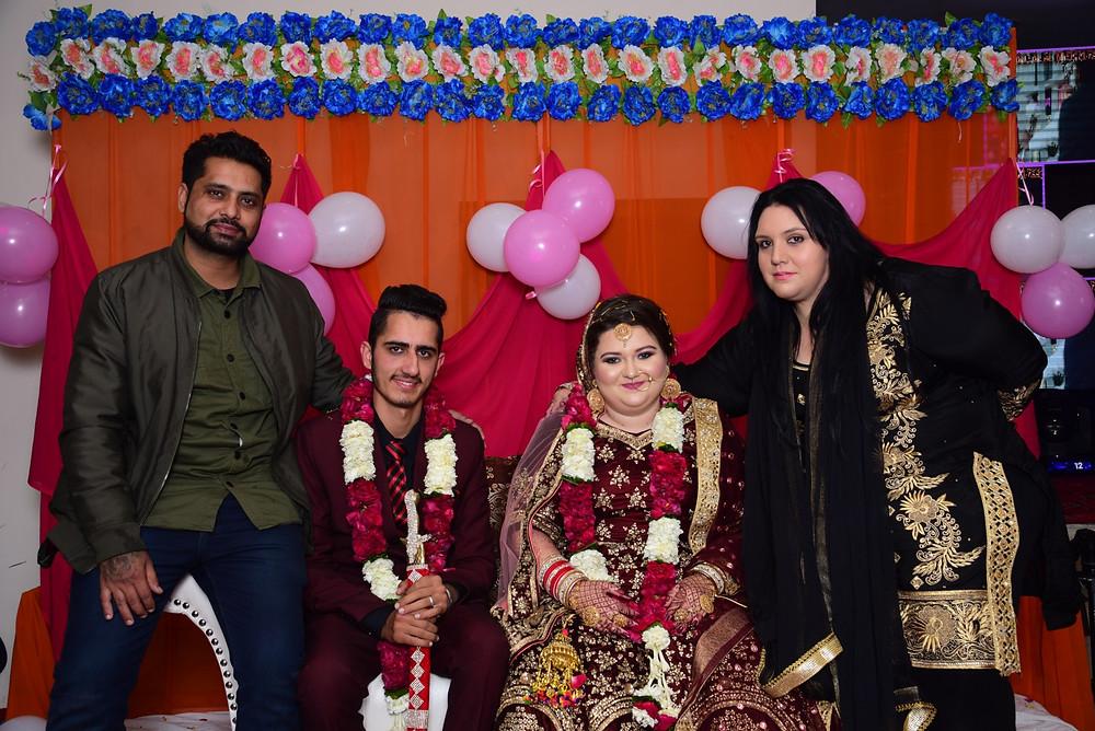 The Punjabi Bride & Groom's Stage