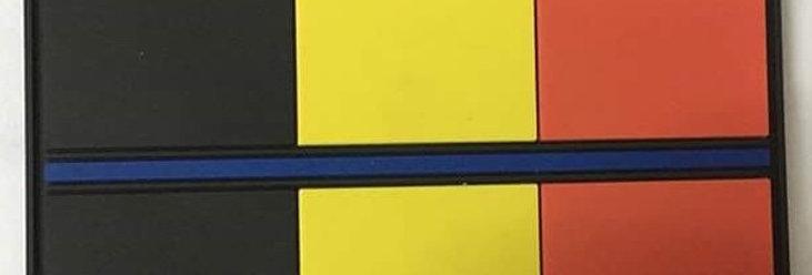 """Ecusson / Patch """"Belgian Blue Line"""" (Color)"""