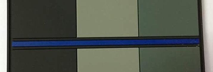 "Ecusson / Patch ""Belgian Blue Line"" (N&B / Z&W / B&W)"