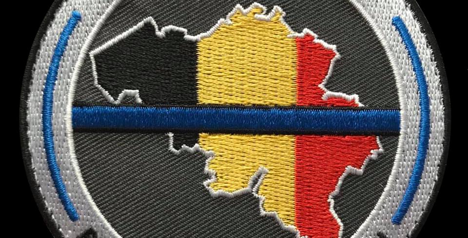 Ecusson / Patch Belgian Blue Line - Soutien/Steun