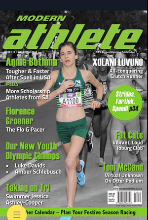 On the cover of the December edition of the Modern Athlete