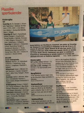 Article Published in Die Burger