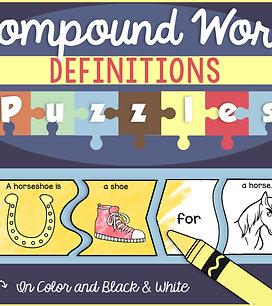 Compound Words Definitions Puzzles