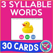 3 Syllable Words for Articulation