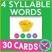 4-Syllable Words for Articulation
