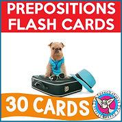 Prepositions Flash Cards
