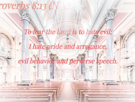✞ Proverbs 8:13 ✞