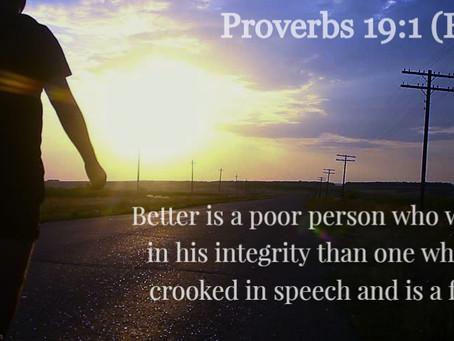 ✞ Proverbs 19:1 ✞