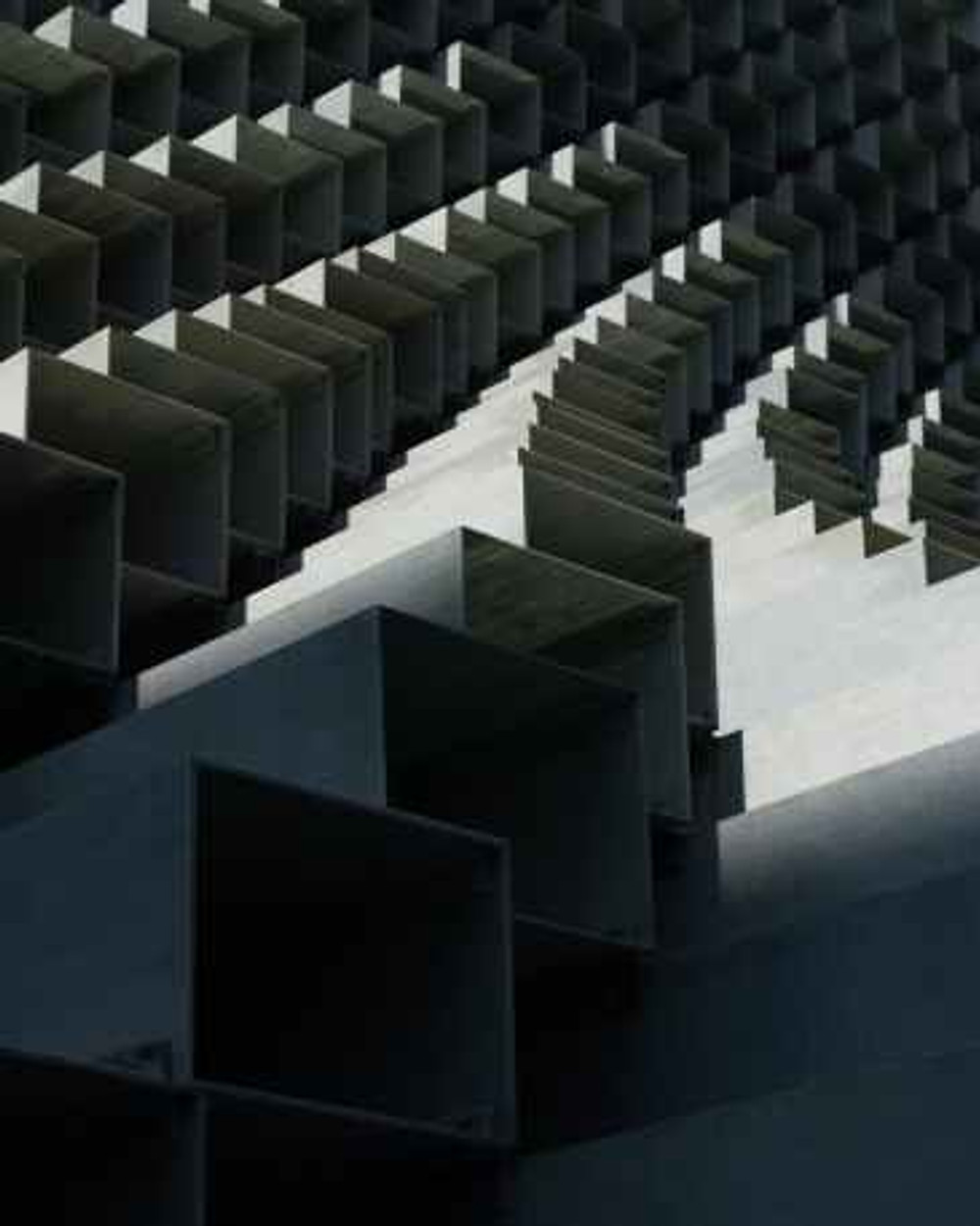 abstract architecture auditorium boxes
