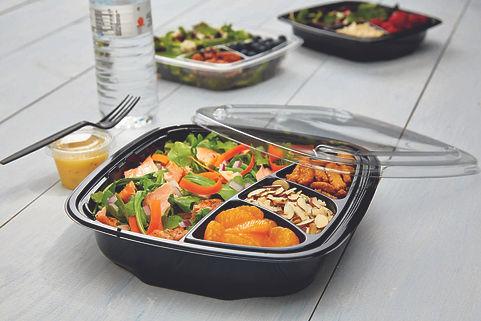 food packaging with food inside