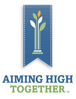 aiming high together logo