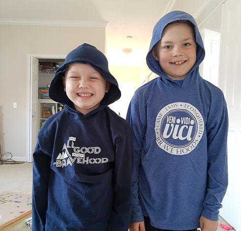 kids waerirng bravehoods hoodies