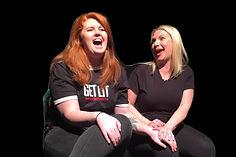 two women in LIT comedy class
