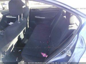 2015 Subaru Impreza sedan rear seat