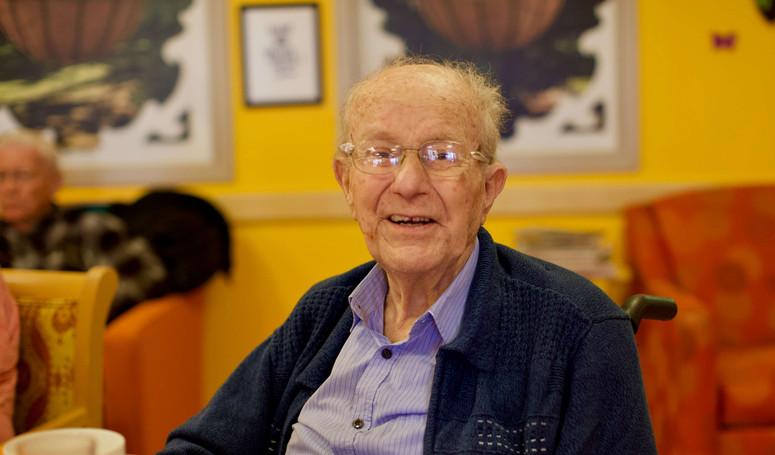 henley place senior resident smiling