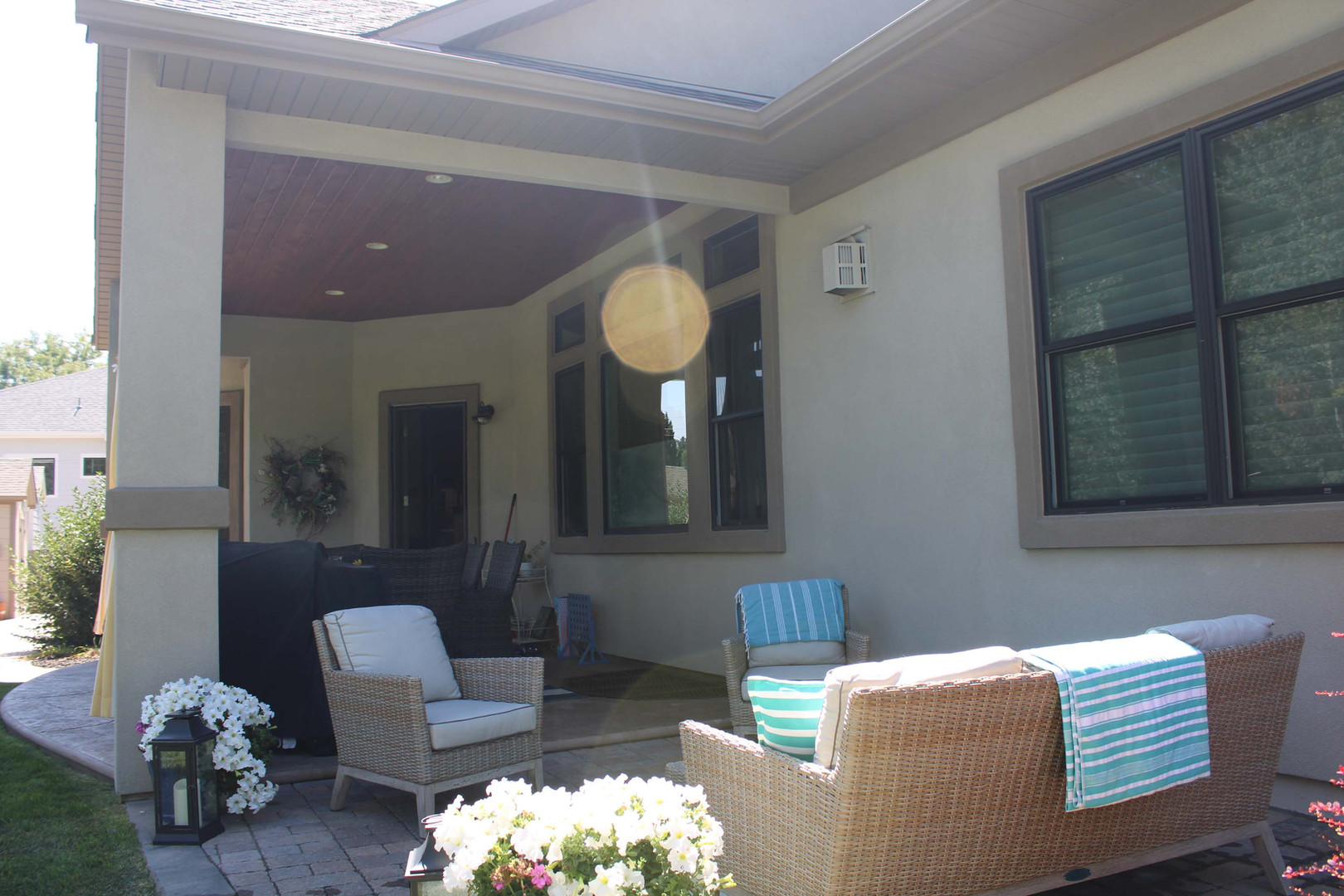 open and enclosed home patio
