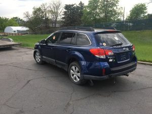 2010 Outback left rear