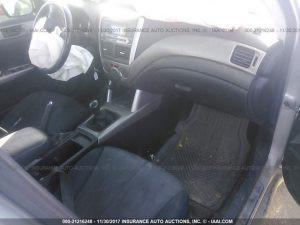 2009 Subaru forester interior