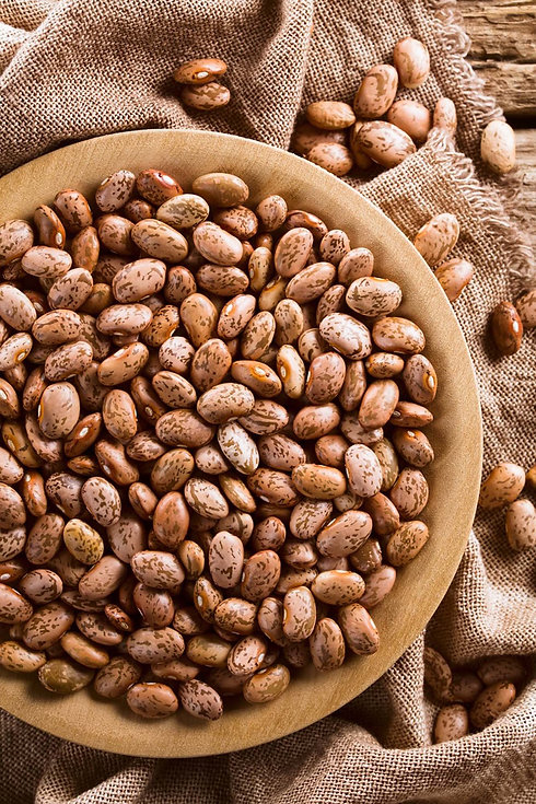colorado dry pinto beans in a bowl