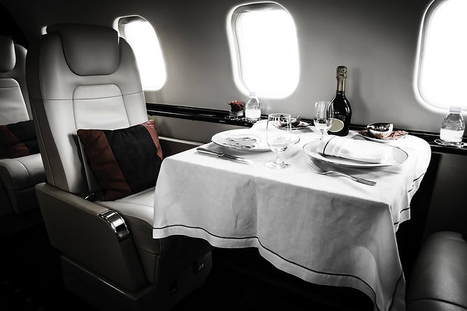 Interior Jet Tablecloth Dinner.jpg