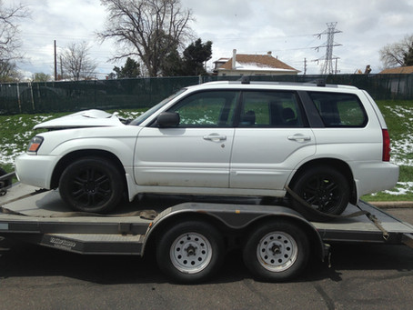 2005 Subaru Forester XT automatic part out 100K
