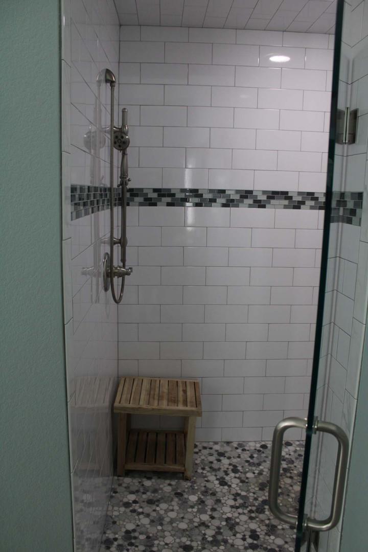 modern remodeled shower