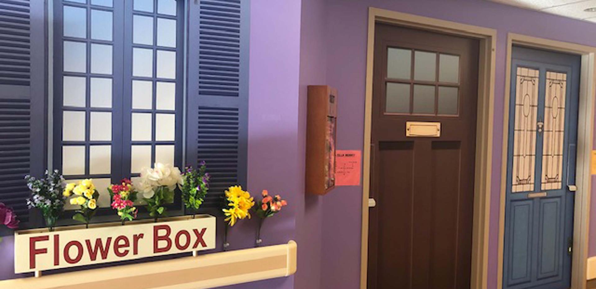 henley house flower box hallway