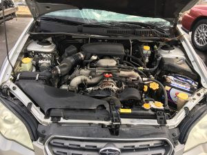 2007 outback wagon engine bay