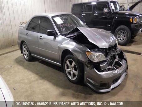 2007 Subaru Impreza 2.5i sedan part out 107k