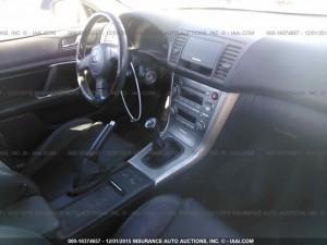 2005 Subaru Legacy GT Wagon interior